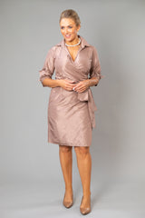 Cocktail Wrap Dress - Coffee
