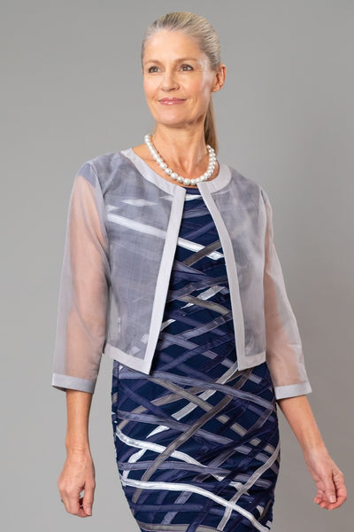 Cocktail Organza Jacket - Silver