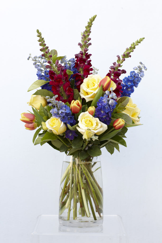 Bright and colourful flower arrangement