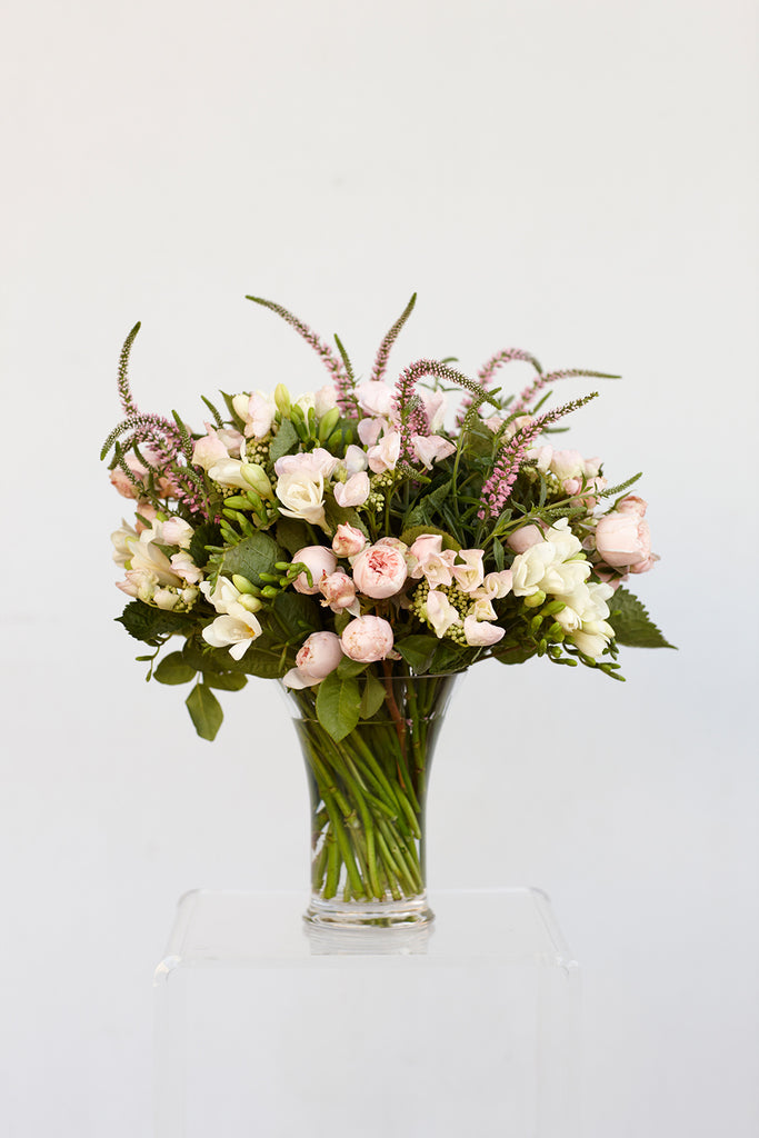 Soft pretty posy flower arrangement