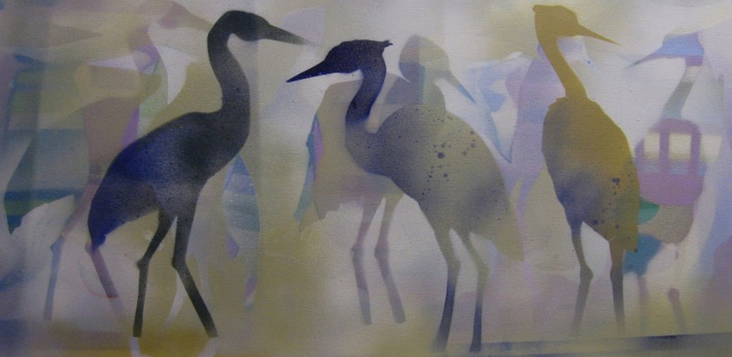 Herons in Gold - PYRO Gallery
