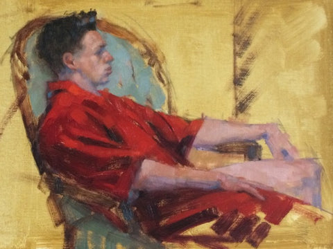 In a Red Kimono-SOLD