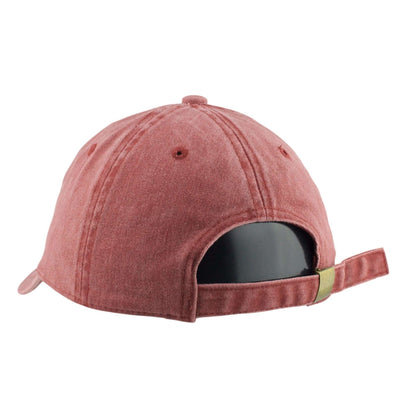 1850 1850 California Bear Washed Maroon/Maroon Slouch Strapback