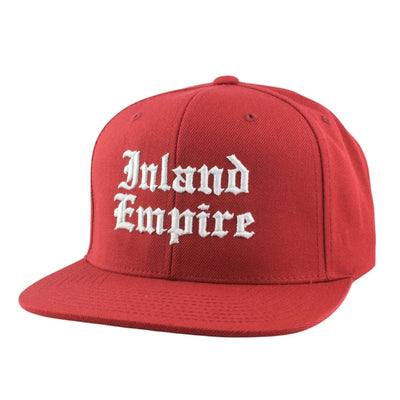 1850 1850 Inland Empire Old English Burgundy/Burgundy Snapback