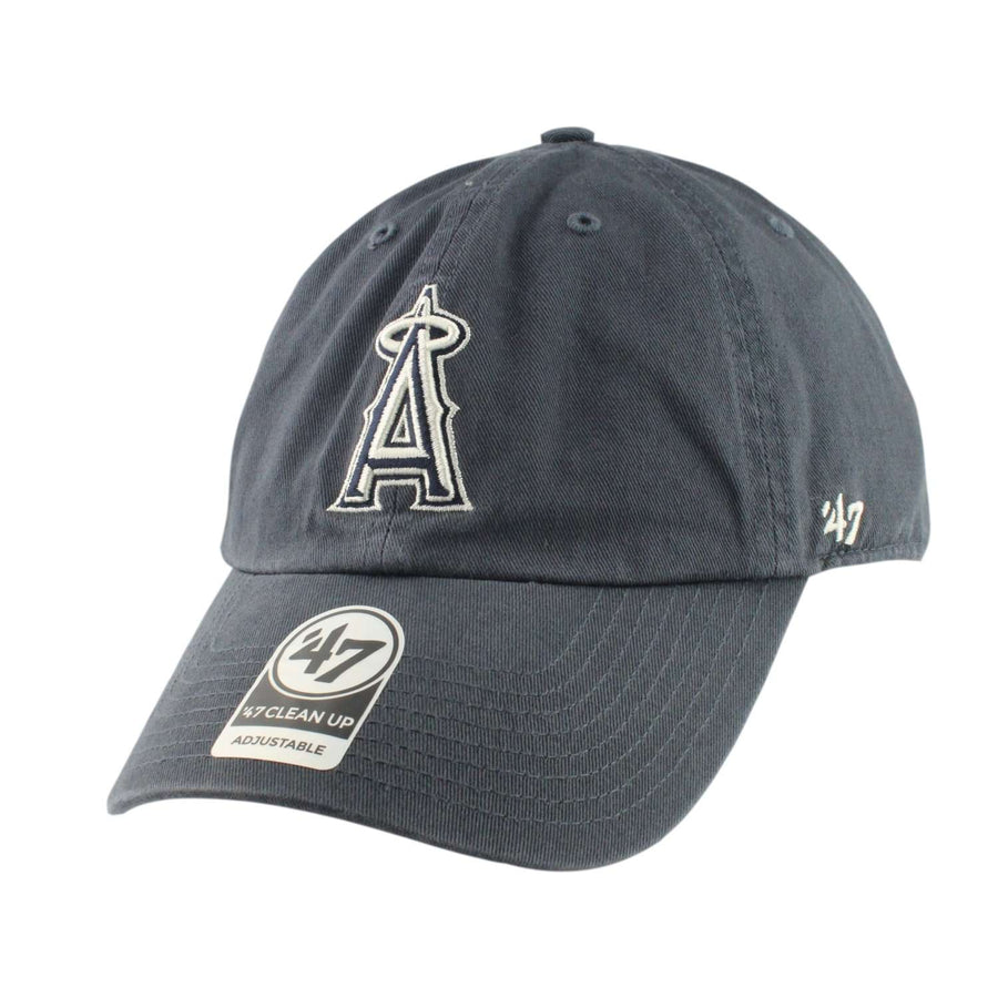 579e0395cdcecc '47 Anaheim Angels Clean Up Vintage Navy/Navy Slouch Strapback