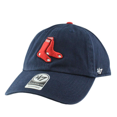 '47 Boston Red Sox Clean Alternate Clean Up Navy/Navy Slouch Strapback