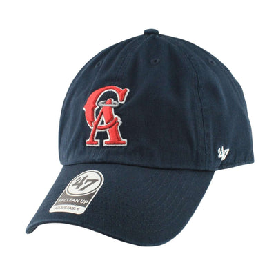 '47 California Angels Clean Up Navy/Navy Slouch Strapback
