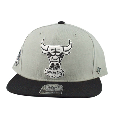 '47 Chicago Bulls Gray Sure Shot Gray/Black Snapback