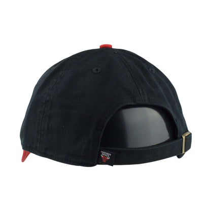 '47 Chicago Bulls Two Tone Clean Up Black/Red Slouch Strapback