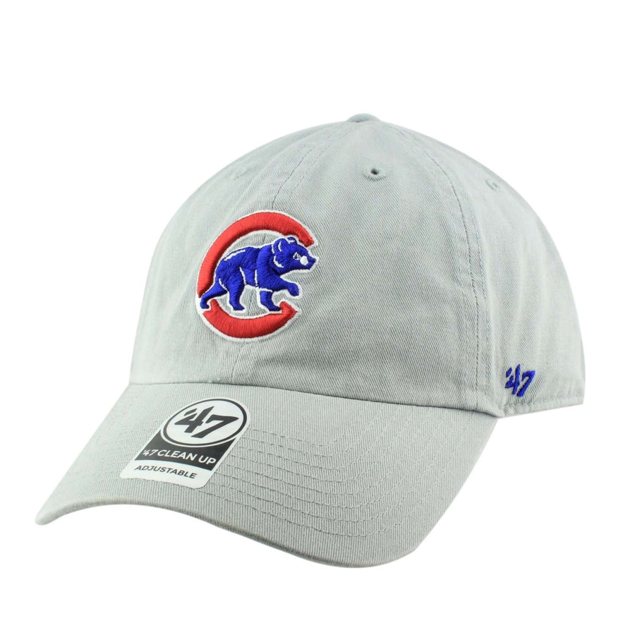 4774f0838f8  47 Chicago Cubs Storm Clean Up Gray Gray Slouch Strapback