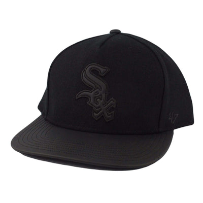 '47 Chicago White Sox Bleecker Black/Black Strapback