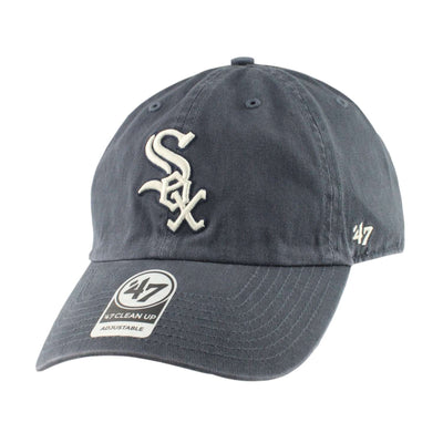 '47 Chicago White Sox Clean Up Vintage Navy/Navy Slouch Strapback