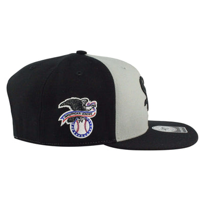 '47 Chicago White Sox Sure Shot Accent Gray/Black Snapback