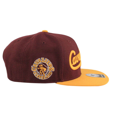 '47 Cleveland Cavaliers Script Side 2 Tone Maroon/Yellow Snapback