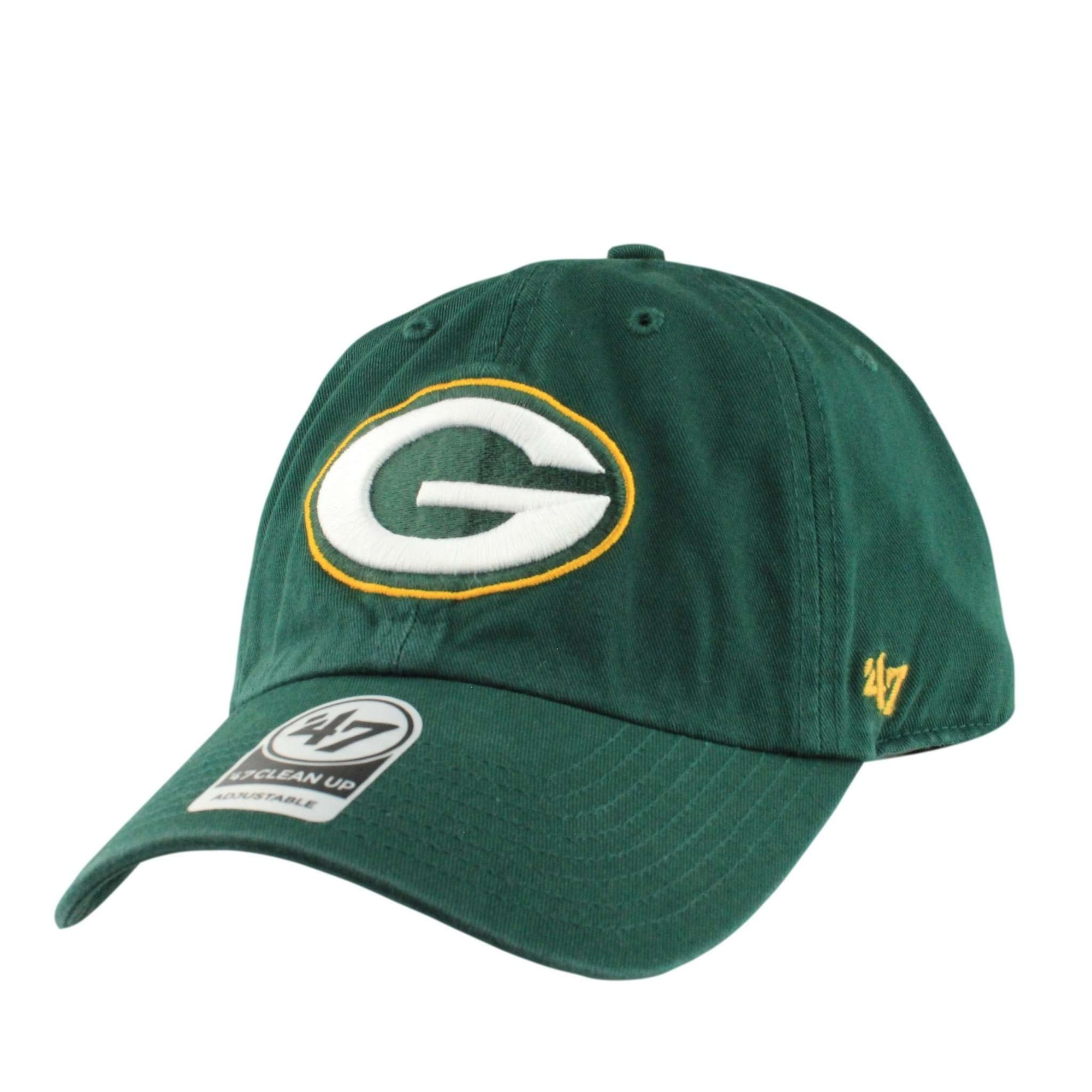 15d6cfff2  47 Green Bay Packers Clean Up Green Green Slouch Strapback.