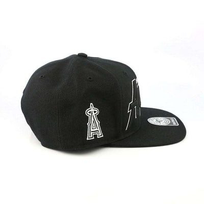 '47 Los Angeles Angels Retroscript Black/Black Snapback