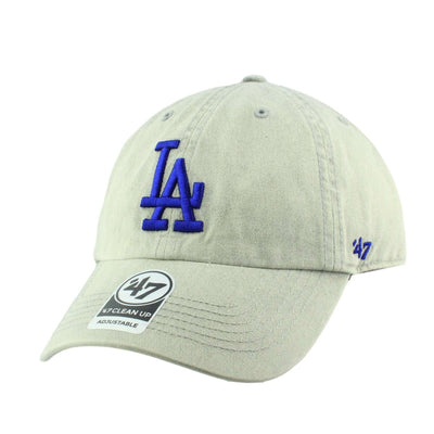 '47 Los Angeles Dodgers Cement Clean Up Gray/Gray Slouch Strapback