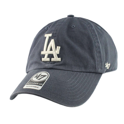 '47 Los Angeles Dodgers Clean Up Vintage Navy/Navy Slouch Strapback