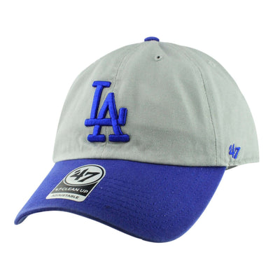 '47 Los Angeles Dodgers Two Tone Clean Up Gray/Blue Slouch Strapback