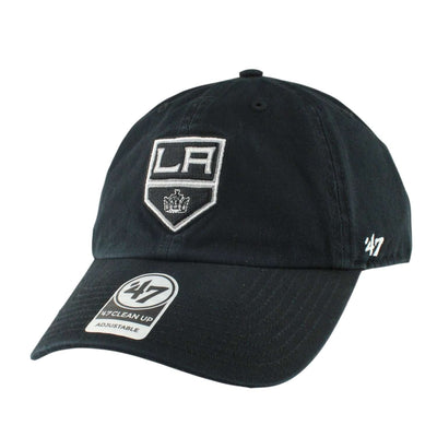 '47 Los Angeles Kings Clean Up Black/Black Slouch Strapback