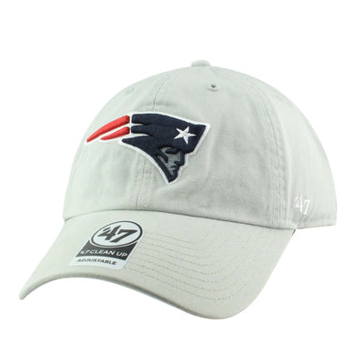 '47 New England Patriots Clean Up Gray/Gray Slouch Strapback