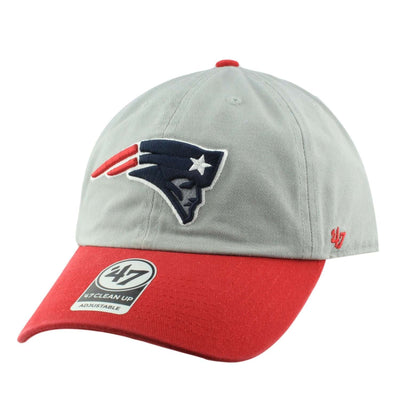 '47 New England Patriots Two Tone Clean Up Gray/Red Slouch Strapback