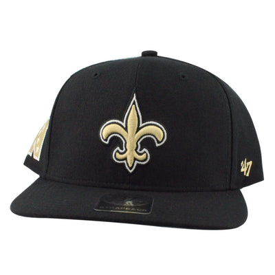 '47 New Orleans Saints Super Shot Black/Black Strapback