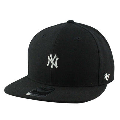 '47 New York Yankees Centerfield Black/Black Snapback