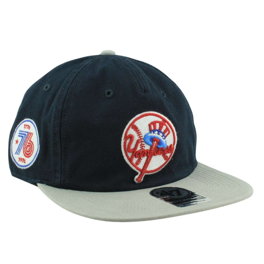 a09783a08af  47 New York Yankees Guilford Blue Gray Snapback
