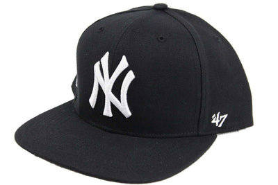 '47 New York Yankees No Shot Black/Black Snapback