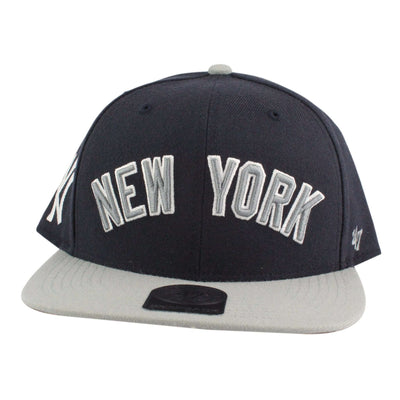 '47 New York Yankees Script Side 2 Tone Blue/Gray Snapback