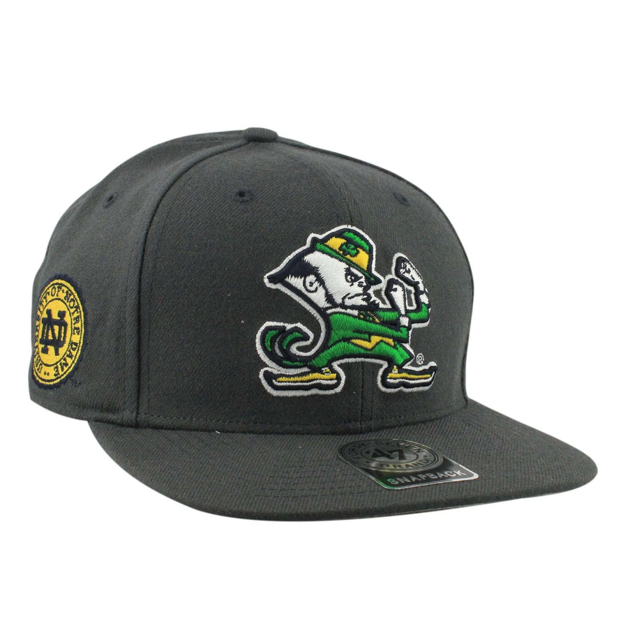 55af21ce0ddb5  47 Notre Dame Fighting Irish Sure Shot Gray Gray Snapback