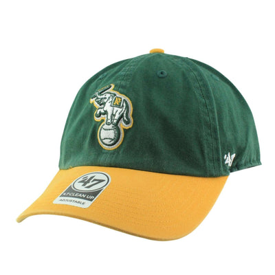 '47 Oakland A's Elephant Clean Up Green/Yellow Slouch Strapback