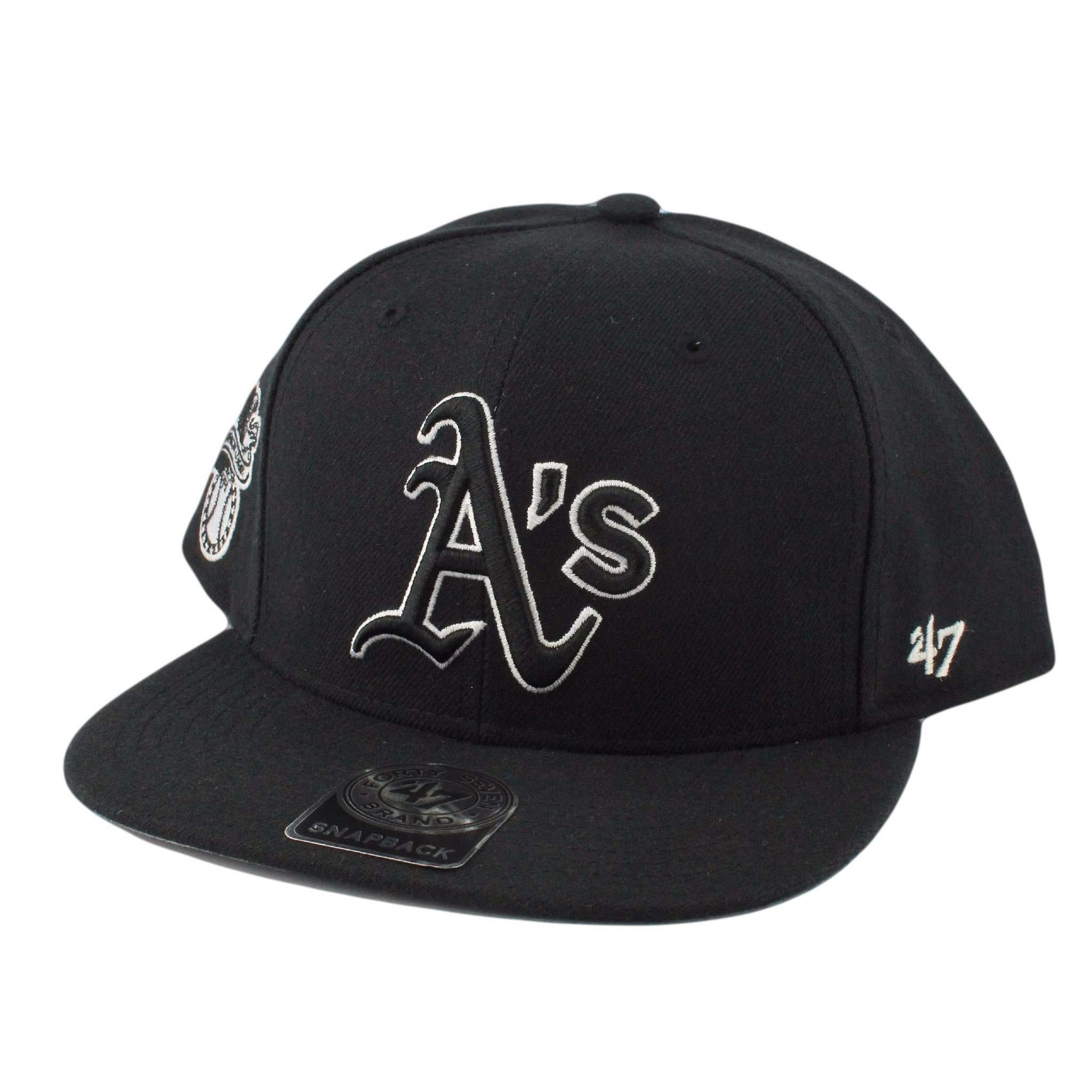 the latest 23d52 ffa05 ... low cost 47 oakland as sure shot black black snapback. 4ff66 16733