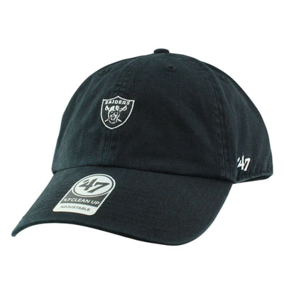 '47 Oakland Raiders Base Runner Black/Black Slouch Strapback