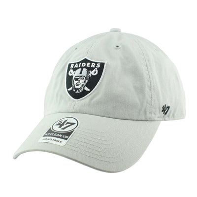 '47 Oakland Raiders Clean Up Steel Gray/Gray Slouch Strapback