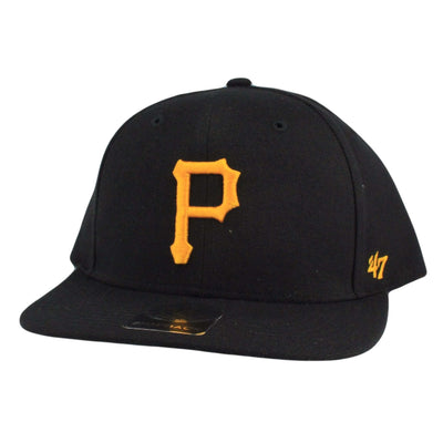 '47 Pittsburgh Pirates Youth No Shot Black/Black Snapback