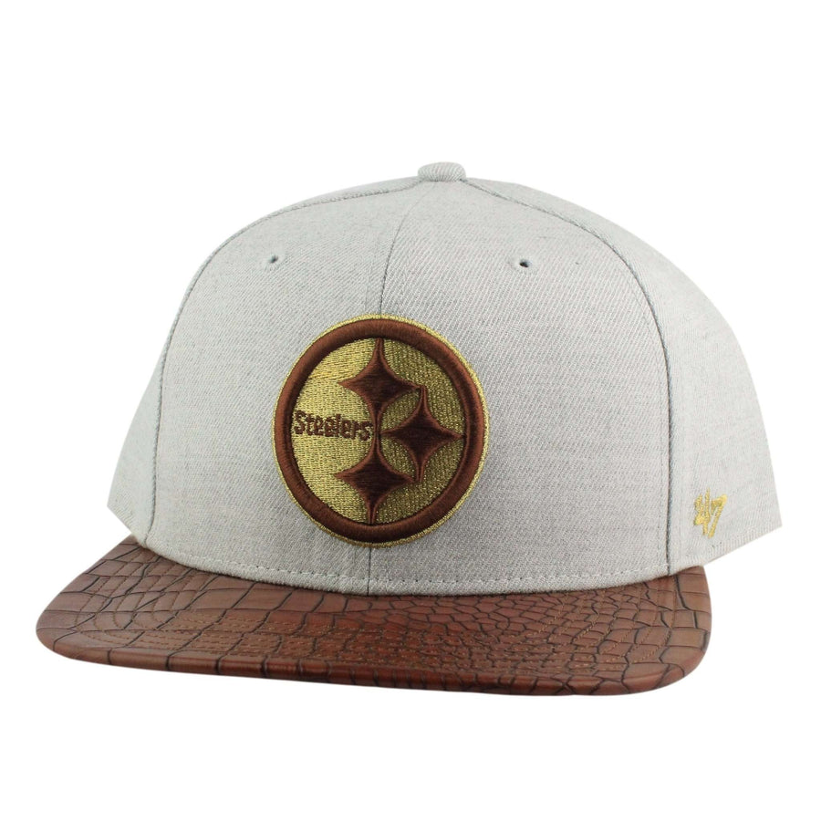 876068299d644b '47 Pittsburgh Steelers Orinoco Gray/Brown Strapback