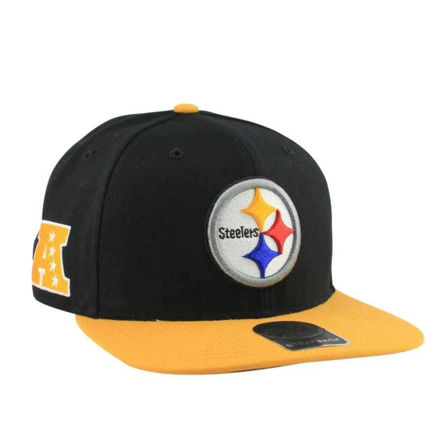 0e8f0d908f509d '47 Pittsburgh Steelers Super Shot Black/Yellow Strapback