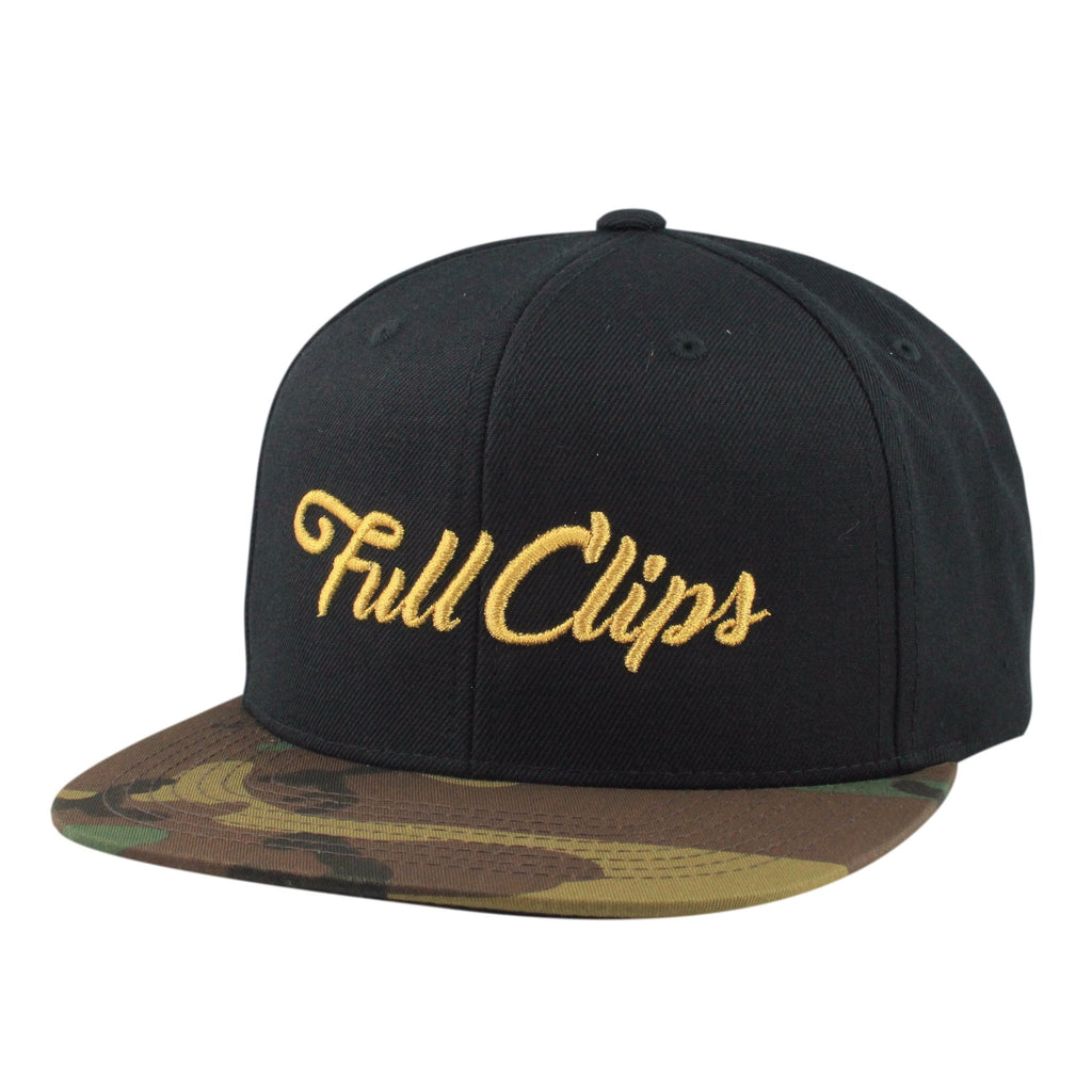 Vice, Vice Full Clips Black/Camo Snapback - Bespoke Cut and Sew