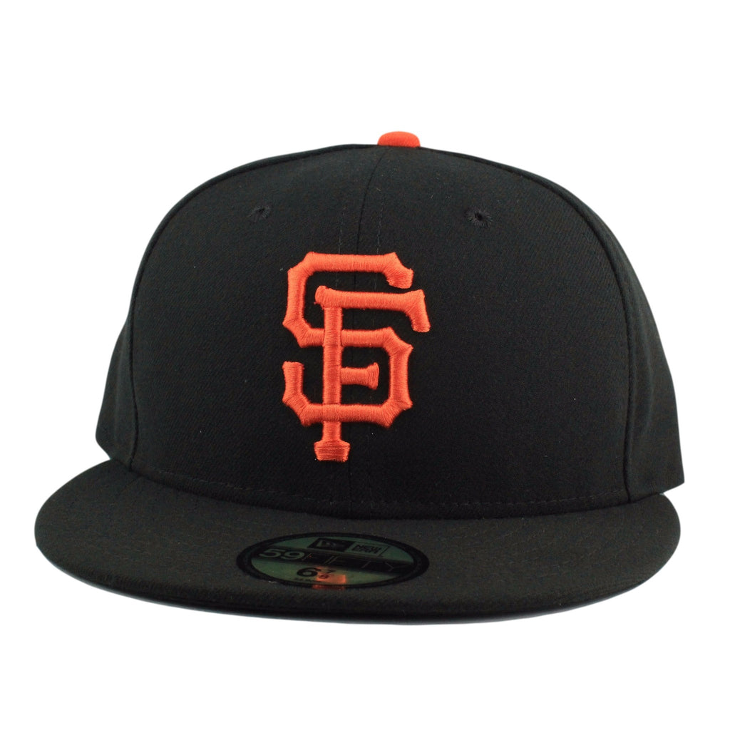 New Era MLB Fitteds, San Francisco Giants Game Black/Black Fitted - Bespoke Cut and Sew