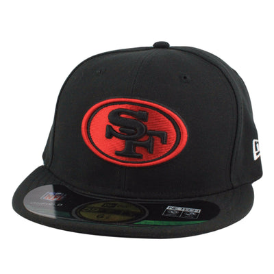 New Era San Francisco 49ers On Field Alt 2 Black/Black Fitted