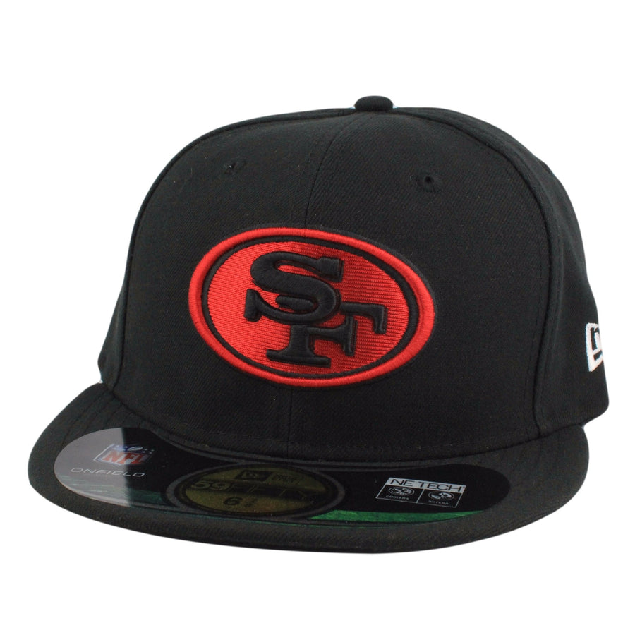 New Era San Francisco 49ers On Field Alt 2 Black Black Fitted d1949d8c100