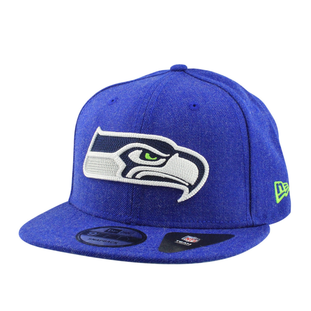 Seattle Seahawks Heather Crisp Blue/Blue Snapback - Bespoke Cut and Sew - 1
