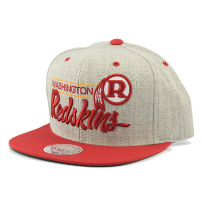 Mitchell and Ness Washington Redskins Gray City Bar Gray/Red Snapback