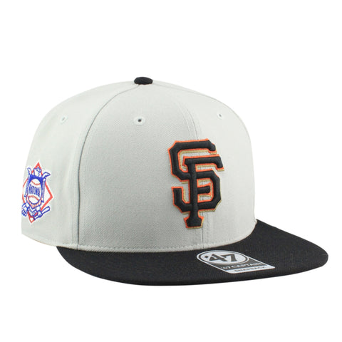 San Francisco Giants Sure Shot Two Tone Gray/Black Snapback