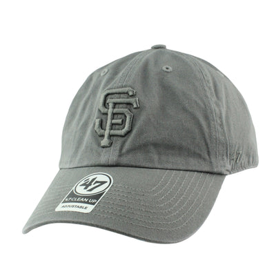 '47:San Francisco Giants Clean Up All Dark Gray/Gray Slouch Strapback