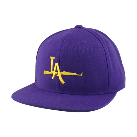 Vice Yellow LA-AK Purple/Purple Snapback
