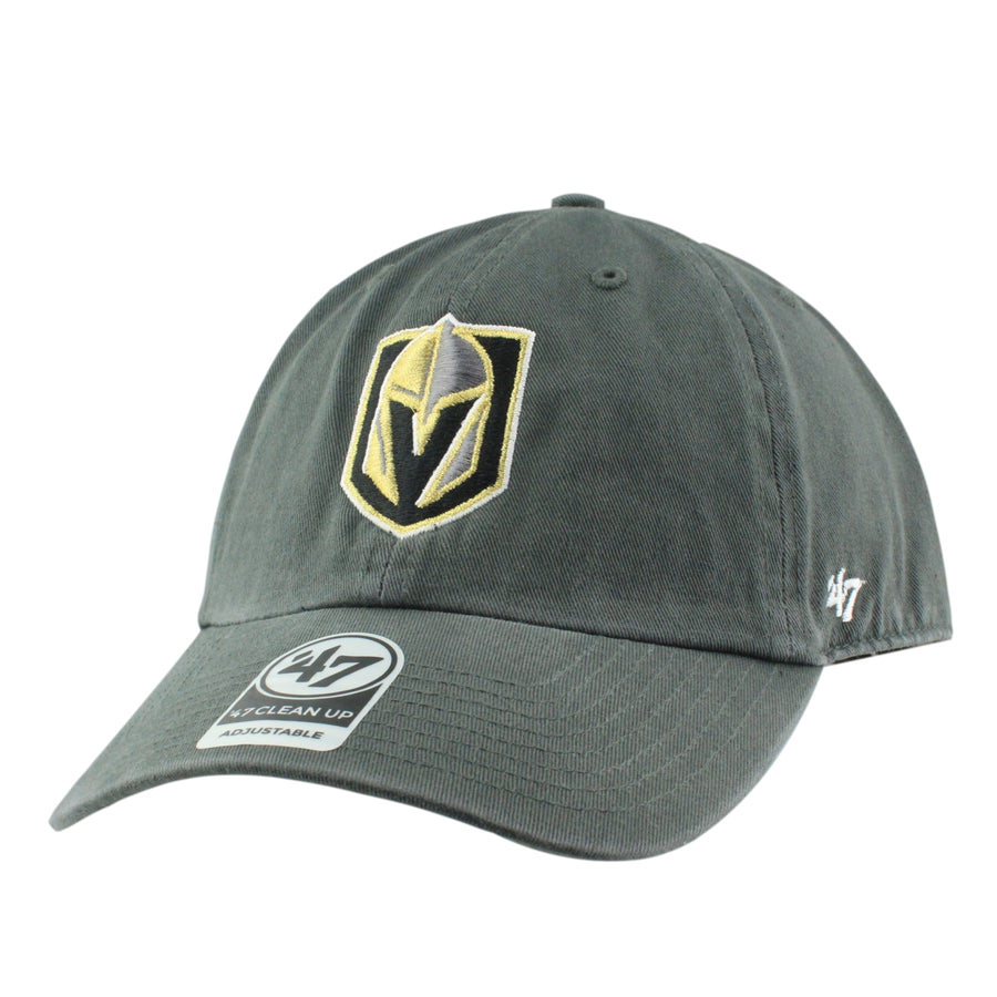 deb5b9c93be03  47 Vegas Golden Knights Clean Up Gray Gray Slouch Strapback