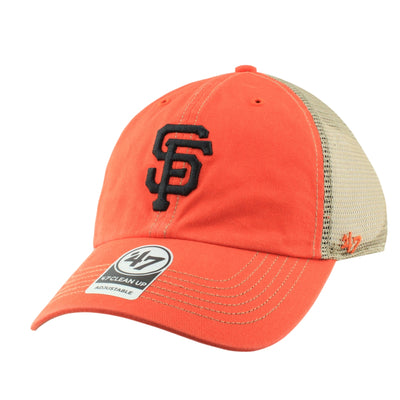 '47:San Francisco Giants Trawler Clean Up Orange/Orange Slouch Snapback
